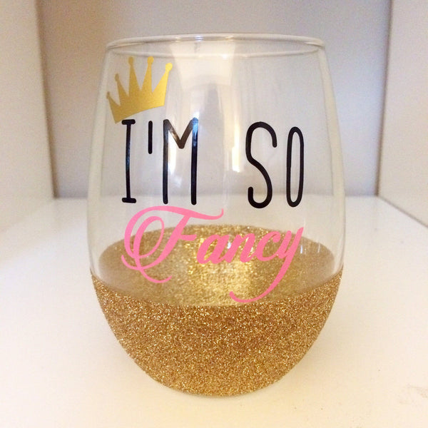 I'm So Fancy - Wine Glass - Twinkle Twinkle Lil' Jar - 1