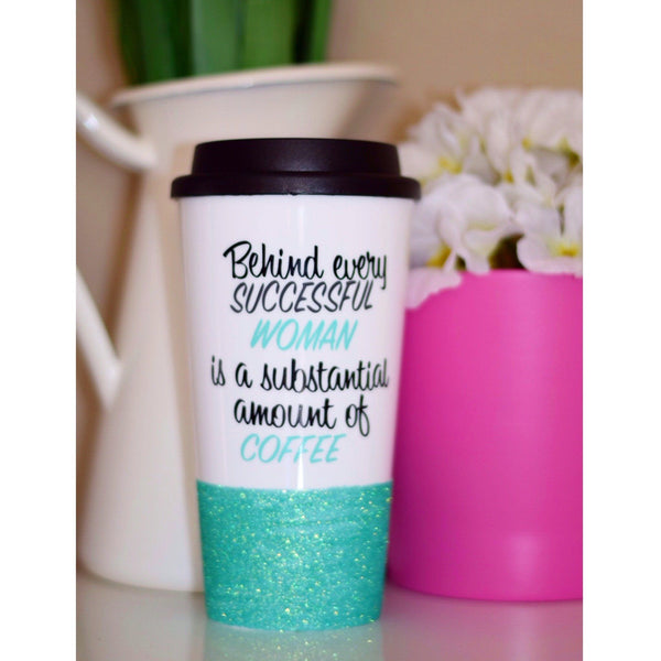 Behind Every Successful Woman - Coffee Travel Mug - Twinkle Twinkle Lil' Jar - 1