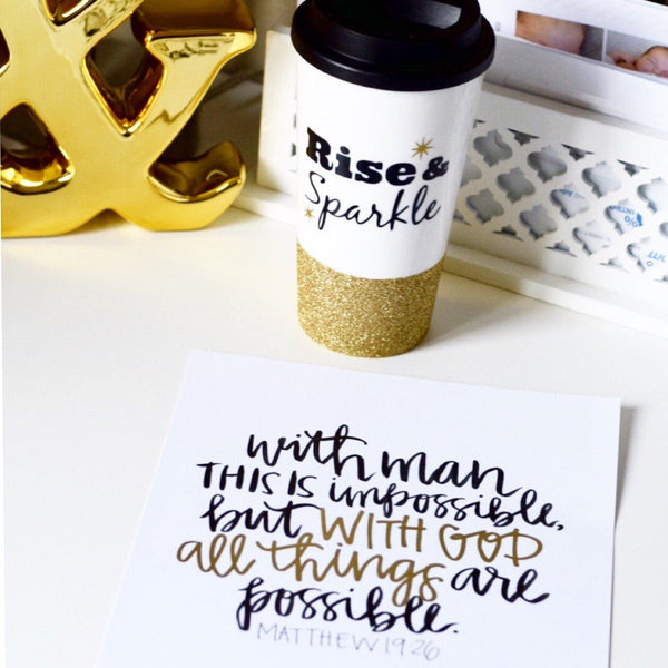 Rise & Sparkle - Coffee Travel Mug - Twinkle Twinkle Lil' Jar - 1