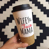 Wifey & Twin Mama - Coffee Travel Mug - Twinkle Twinkle Lil' Jar - 1