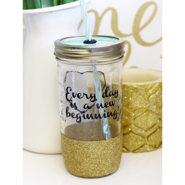 Every Day Is A New Beginning - Tumbler - Twinkle Twinkle Lil' Jar - 1