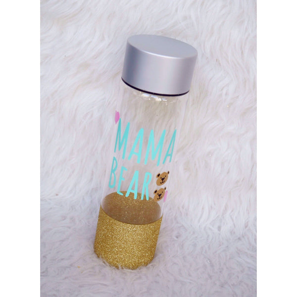 Mama Bear With Cubs - Water Bottle - Twinkle Twinkle Lil' Jar - 1
