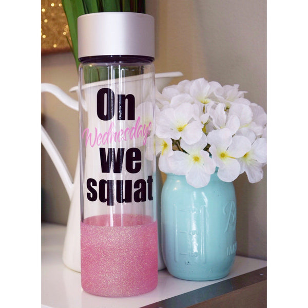 On Wednesdays We Squat  - Water Bottle - Twinkle Twinkle Lil' Jar - 1