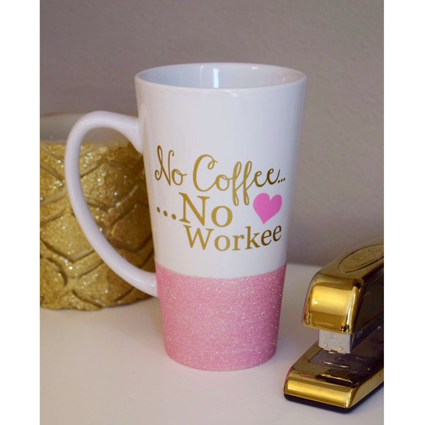No Coffee No Workee - Coffee Mug - Twinkle Twinkle Lil' Jar - 1