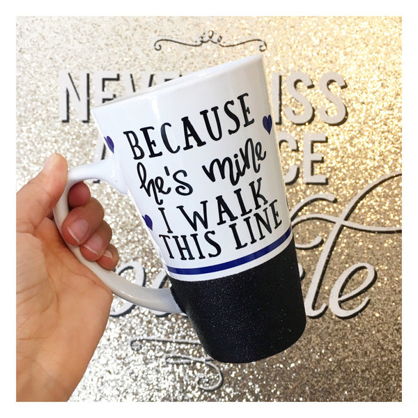 Because He's Mine I Walk This Line - Coffee Mug - Twinkle Twinkle Lil' Jar - 1