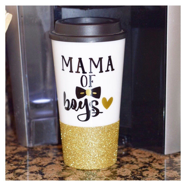 Mama Of Boys - Coffee Travel Mug - Twinkle Twinkle Lil' Jar - 1