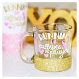 Runnin' On Caffeine And Prayer - Coffee Mug - Twinkle Twinkle Lil' Jar - 1