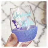 Mermaid Water - Wine Glass