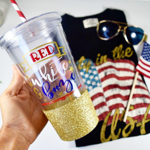 Red White and Booze - Tumbler