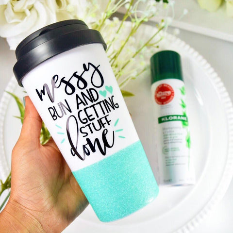 Messy Bun and Getting Stuff Done - Coffee Travel Mug