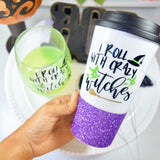 I Roll With Crazy Witches - Halloween Coffee Travel Mug