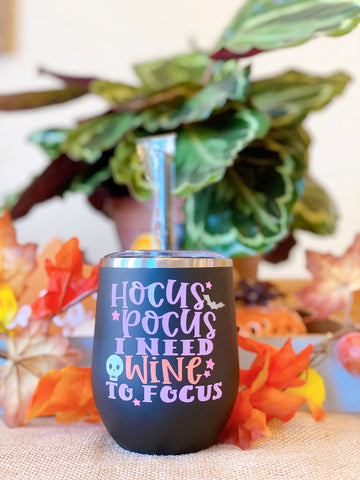 Hocus Pocus - Halloween Stainless Steel Wine Glass