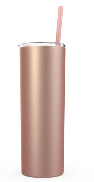 Rose Gold Tumbler - Stainless Steel Travel Mug