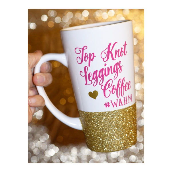 Top Knot Leggings Coffee - Coffee Mug - Twinkle Twinkle Lil' Jar - 1