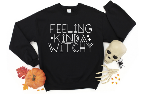 Feeling Kinda Witchy Halloween Sweatshirt
