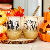 Cheers Witches - Halloween Wine Glass