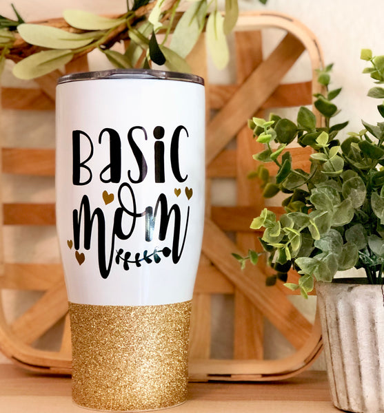 Basic Mom - Stainless Steel Travel Mug / Tumbler