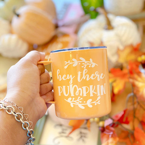 Hey There Pumpkin - Stainless Steel Coffee Mug