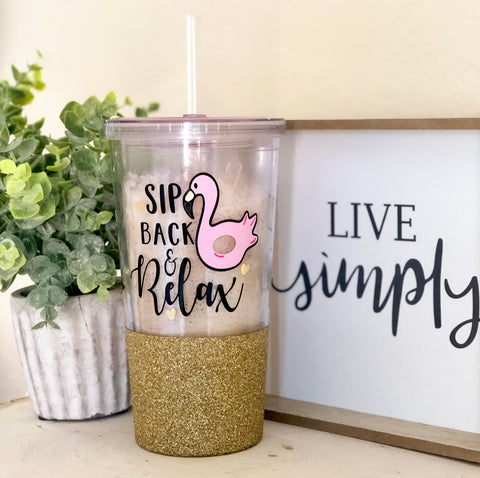 Sip Back and Relax - Tumbler