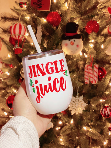 Jingle Juice - Christmas Stainless Steel Wine Glass