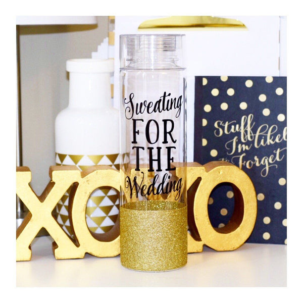 Sweating For The Wedding  - Water Bottle - Twinkle Twinkle Lil' Jar - 1