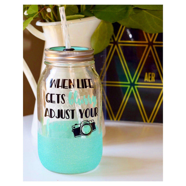 When Life Gets Blurry Adjust Your Focus - Tumbler - Twinkle Twinkle Lil' Jar - 1