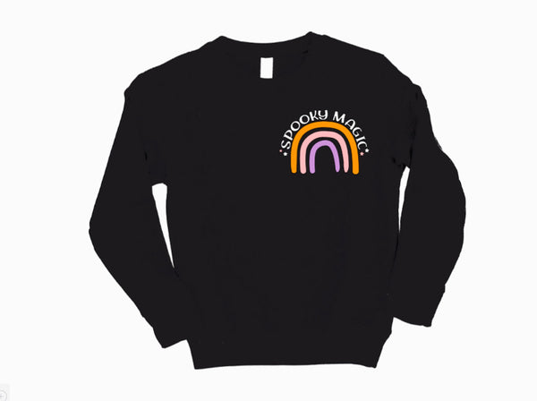 Spooky Magic Halloween Rainbow Sweatshirt