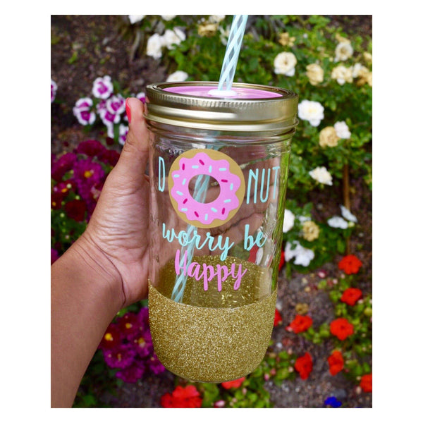 Donut Worry Be Happy - Tumbler - Twinkle Twinkle Lil' Jar - 1