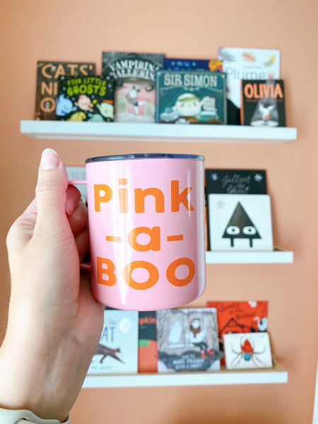 Pink A Boo - Stainless Steel Coffee Mug