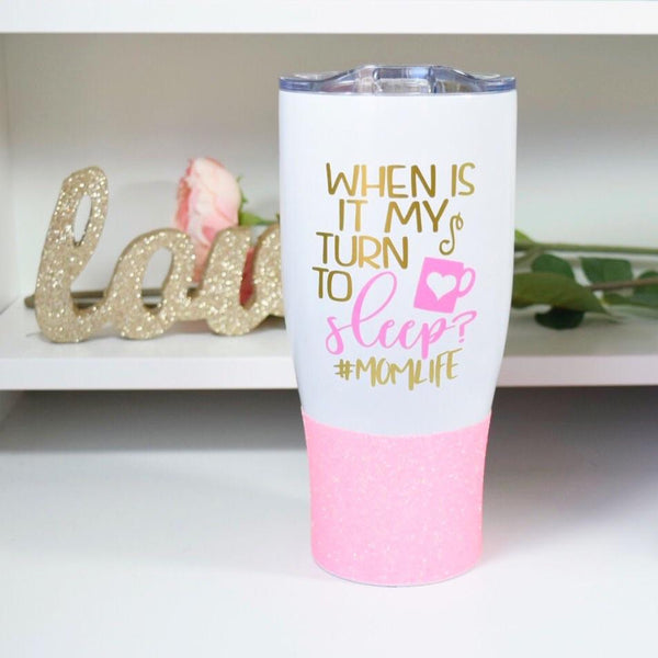 When Is It My Turn To Sleep #momlife Stainless Steel Travel Mug / Tumbler