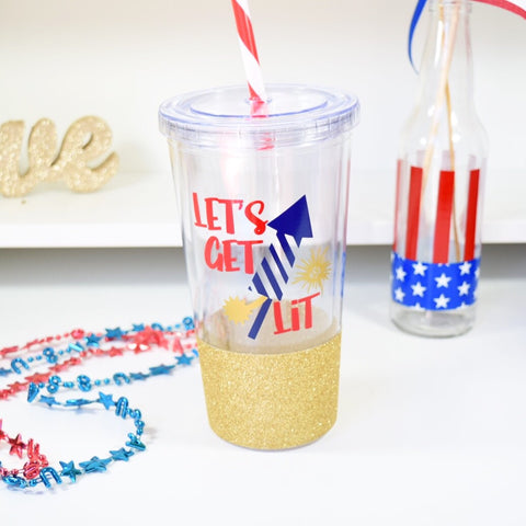 Let's Get Lit - 4th of July Tumbler