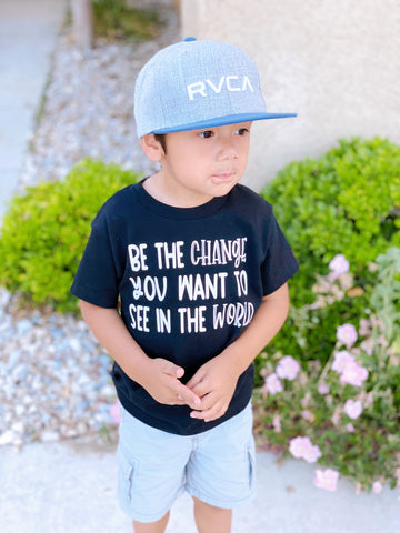 Be The Change Black Tee
