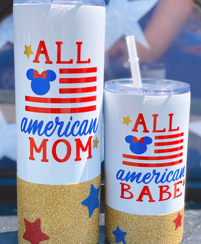 All American Babe - Twinkle Tike Stainless cup