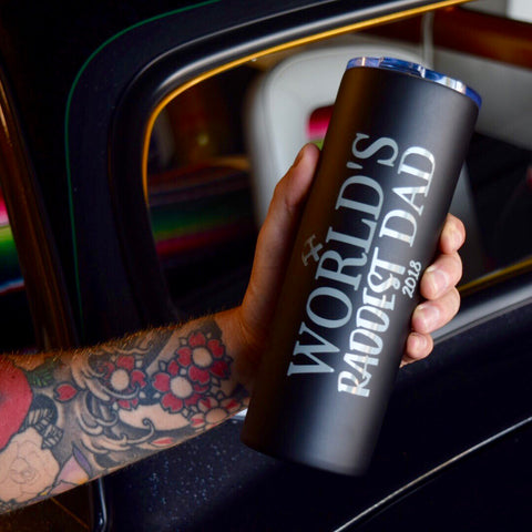World's Raddest Dad - Stainless Steel Travel Mug