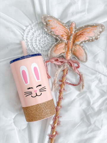 Bunny - RTS Twinkle Tike Blush Pink Stainless cup