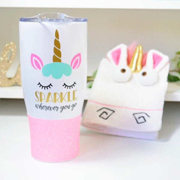Unicorn Sparkle Wherever You Go - Stainless Steel Travel Mug