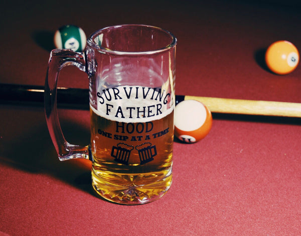 Surviving Fatherhood - Beer Mug