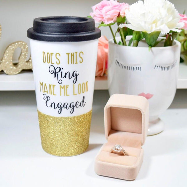 Does This Ring Make Me Look Engaged? - Coffee Travel Mug
