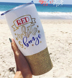 Red White and Booze - Stainless Steel Travel Mug
