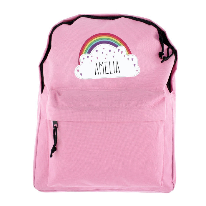Personalised Girl/'s Princess Ruck Sack Back Pack Bag 4 designs available