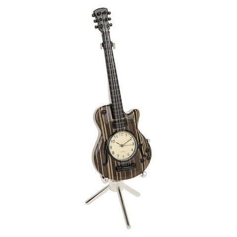 Miniature Wood effect Guitar Clock