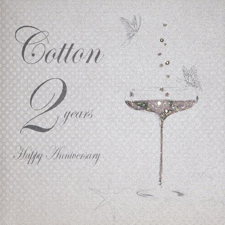 2nd COTTON ANNIVERSARY - CHAMPS COUPE GLASS
