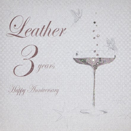 3RD LEATHER ANNIVERSARY - CHAMPS COUPE GLASS