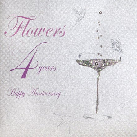 4TH FLOWERS ANNIVERSARY - CHAMPS COUPE GLASS