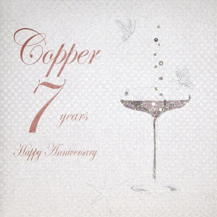 7TH COPPER ANNIVERSARY - CHAMPS COUPE GLASS
