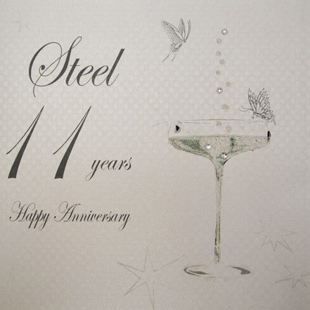 11TH STEEL ANNIVERSARY - CHAMPS COUPE GLASS