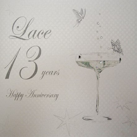 13TH LACE ANNIVERSARY - CHAMPS COUPE GLASS