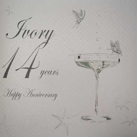 14TH IVORY ANNIVERSARY - CHAMPS COUPE GLASS