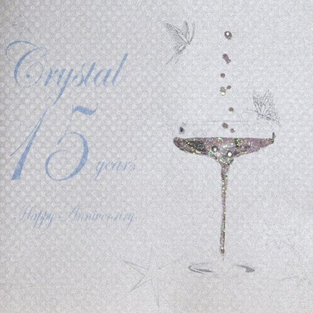 15TH CRYSTAL ANNIVERSARY - CHAMPS COUPE GLASS