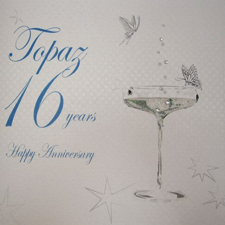 16TH TOPAZ ANNIVERSARY - CHAMPS COUPE GLASS